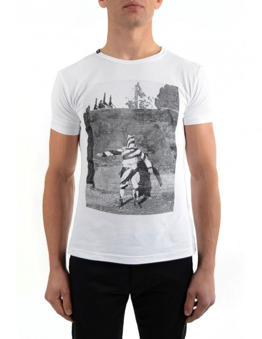 SELEPCENY SOLDIER SCREEN-PRINTED SUPER-SOFT STRETCH COTTON T-SHIRT