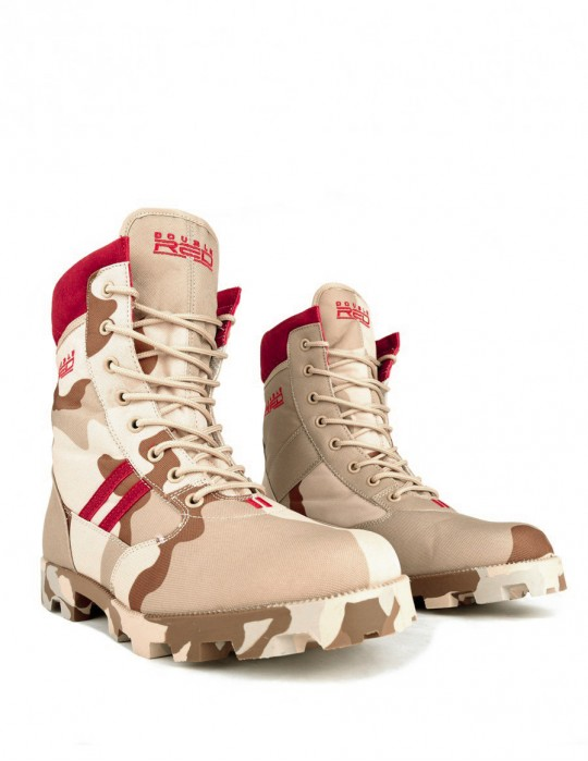 Boots Red Jungle Desert Camo